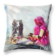 024 Sindh Throw Pillow