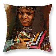 025 Sindh B Throw Pillow