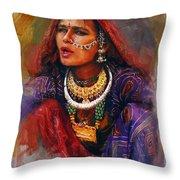 027 Sindh Throw Pillow