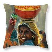028 Sindh Throw Pillow