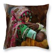 029 Sindh Throw Pillow