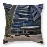 03 Conventus Medical Building On Main Street Throw Pillow