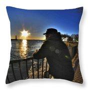 03 Me Sunset 16mar16 Throw Pillow