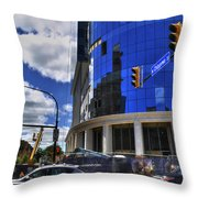 03 W Chipp And Delaware Construction  Throw Pillow