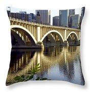 0333 3rd Avenue Bridge Minneapolis Throw Pillow