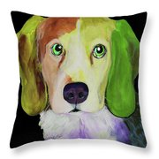 0356 Dog By Nixo Throw Pillow