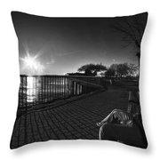 04 Me Sunset 16mar16 Bw Throw Pillow