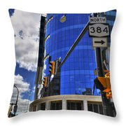 04 W Chipp And Delaware Construction  Throw Pillow