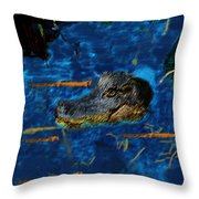 04142015 Gator Hole Throw Pillow