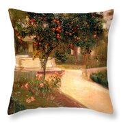 Garden Alcazar Seville Throw Pillow