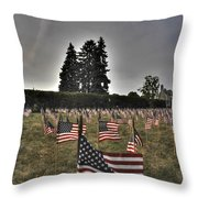 05 Flags For Fallen Soldiers Of Sep 11 Throw Pillow