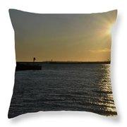 05 Sunset 16mar16 Throw Pillow