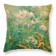 Meadow Flowers Throw Pillow