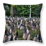 06 Flags For Fallen Soldiers Of Sep 11 Throw Pillow
