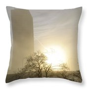 06 Foggy Sunday Sunrise Throw Pillow