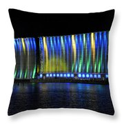 06 Grain Elevators Light Show 2015 Throw Pillow