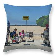 0676- Venice Beach Throw Pillow