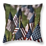 07 Flags For Fallen Soldiers Of Sep 11 Throw Pillow