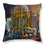 071 Famous Building Top In Chicago Illinois Throw Pillow