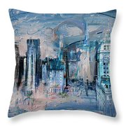 072 Wrigley Buildings In Chicago. Throw Pillow