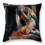 073 Weeping Lady F.w. Blanchard Grave Monument- Hollywood Forever Cemetery Throw Pillow