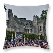 08 Flags For Fallen Soldiers Of Sep 11 Throw Pillow