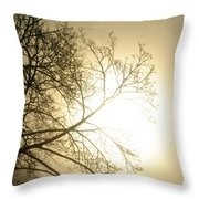 08 Foggy Sunday Sunrise Throw Pillow
