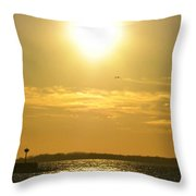 08 Sunset 16mar16 Throw Pillow