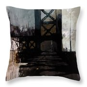 083 Manhattan Bridge Throw Pillow