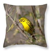 0839 -yellow Warbler Throw Pillow