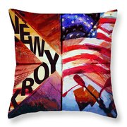 085 Four Skyscrapers B Throw Pillow