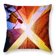 085 Four Skyscrapers Throw Pillow