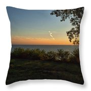 0874- Lake Michigan Sunset Throw Pillow