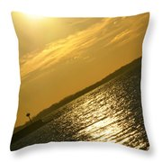 09 Sunset 16mar16 Throw Pillow