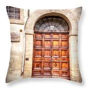 0959 Assisi Italy Throw Pillow