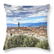 0960 Florence Italy Throw Pillow