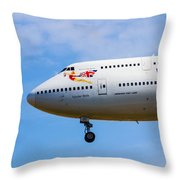 A Virgin Atlantic Boeing 747 Throw Pillow