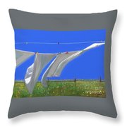 Cormorants At The Bay  Throw Pillow