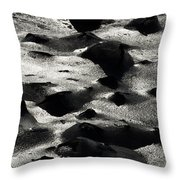 Black Rocks Amd Silver Ice  Throw Pillow