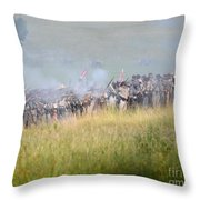 Gettysburg Confederate Infantry 7503c Throw Pillow
