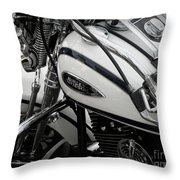 1 - Harley Davidson Series  Throw Pillow by Lainie Wrightson