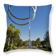 The Vero Beach Museum Of Art In East Central Florida Throw Pillow