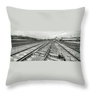 10th St. Tracks Throw Pillow