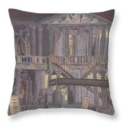 14th Street Theatre Throw Pillow