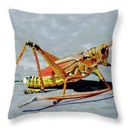 15- Lubber Grasshopper Throw Pillow