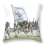 1812 Soldiers Throw Pillow