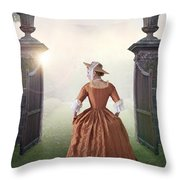 18th Century Georgian Woman  Throw Pillow