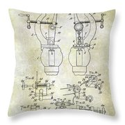1902 Watchmakers Lathes Patent Throw Pillow