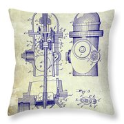 1903 Fire Hydrant Patent Throw Pillow
