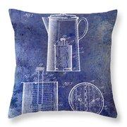 1921 Coffee Pot Patent Throw Pillow